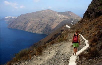 Santorini hiking