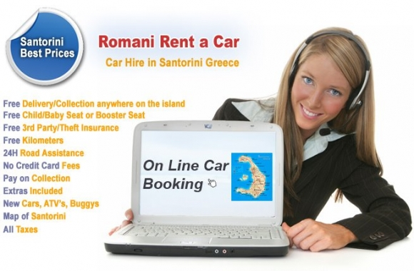 Rent your car from Romani in Santorini for 10 reasons