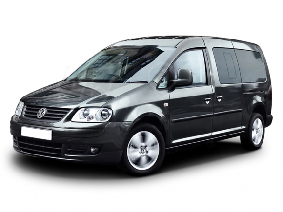 VW Caddy Maxi Automatic is everything you need to enjoy Santorini, rent this 7 person Minibus